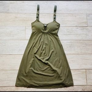 Cache dress size small nwot army green